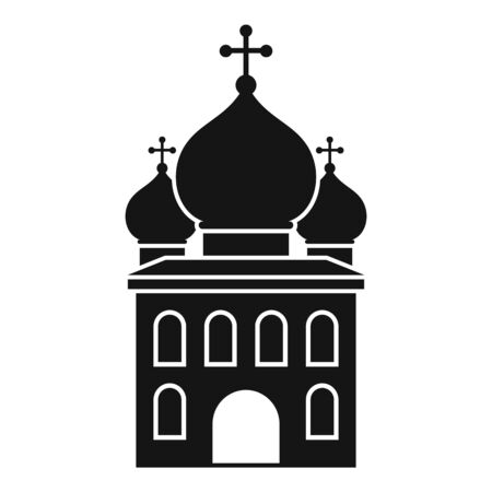 Orthodox church icon, simple style 向量圖像