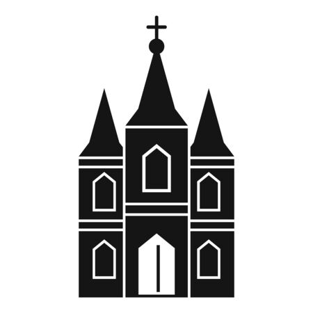Europe church icon. Simple illustration of europe church vector icon for web design isolated on white background