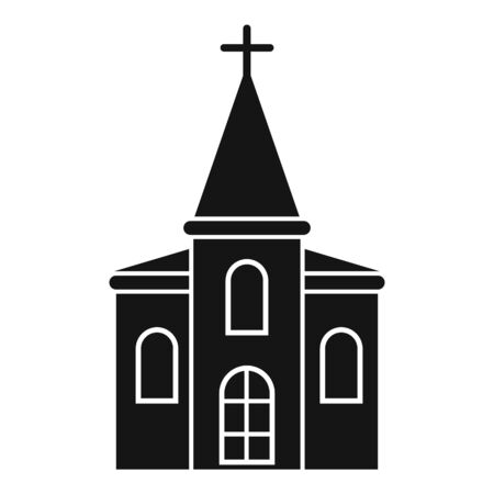 Wood church icon, simple style