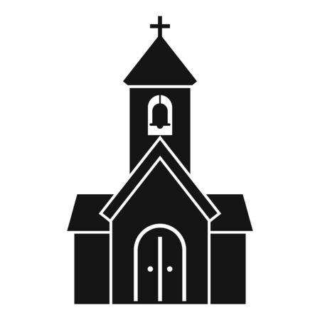 City chapel icon, simple style Çizim