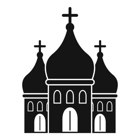 Modern city church icon. Simple illustration of modern city church vector icon for web design isolated on white background