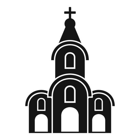 Architecture church icon, simple style Vectores