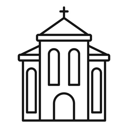 Europe church icon. Outline europe church vector icon for web design isolated on white background  イラスト・ベクター素材