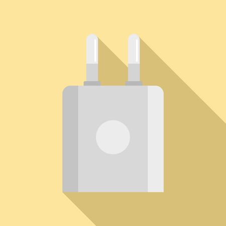 Smartphone plug icon. Flat illustration of smartphone plug vector icon for web design