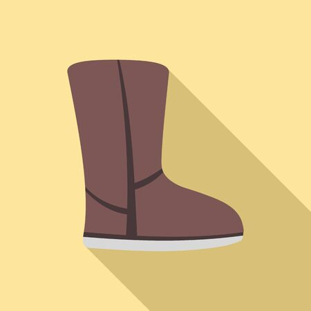 Ugg boot icon. Flat illustration of ugg boot vector icon for web design Illustration