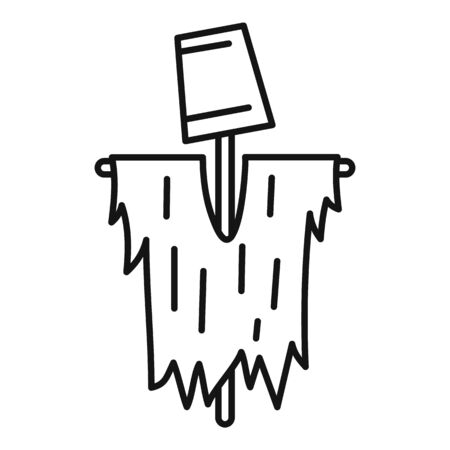 Scarecrow icon, outline style Stock Illustratie