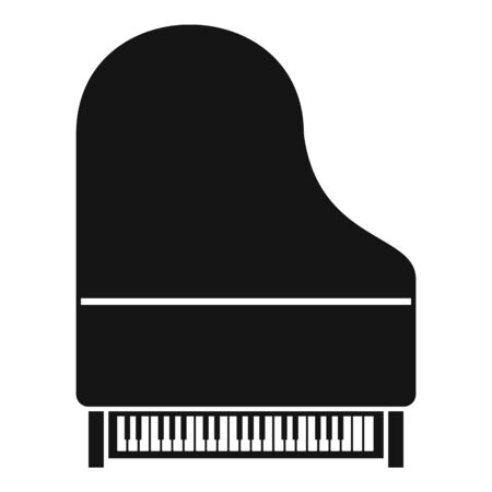 New grand piano icon. Simple illustration of new grand piano vector icon for web design isolated on white background