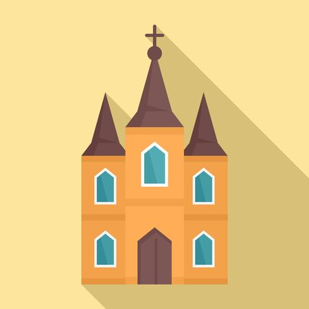 Europe church icon. Flat illustration of europe church vector icon for web design