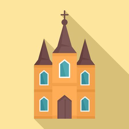 Europe church icon. Flat illustration of europe church vector icon for web design Foto de archivo - 132099494