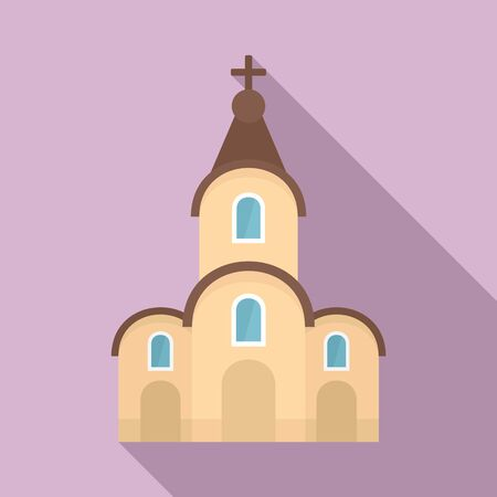 Modern city church icon. Flat illustration of modern city church vector icon for web design Foto de archivo - 132099225