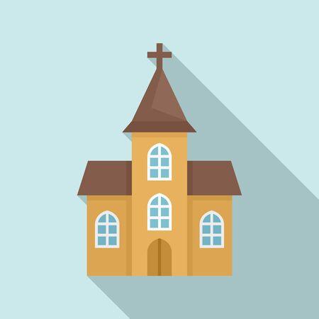 Window church icon. Flat illustration of window church vector icon for web design Foto de archivo - 132099412