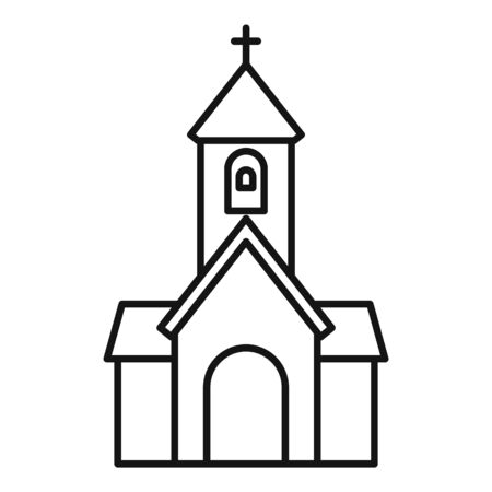 Religion church icon, outline style