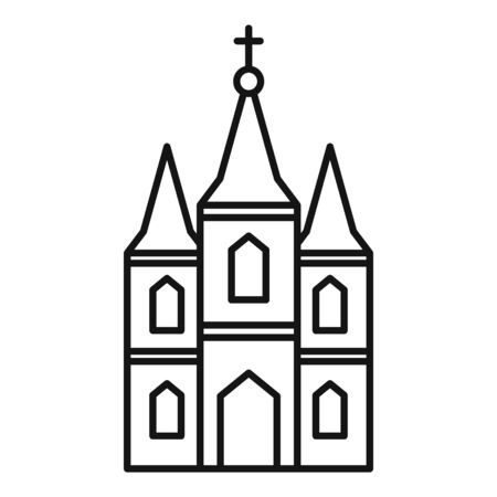 Window church icon. Outline window church vector icon for web design isolated on white background Illusztráció