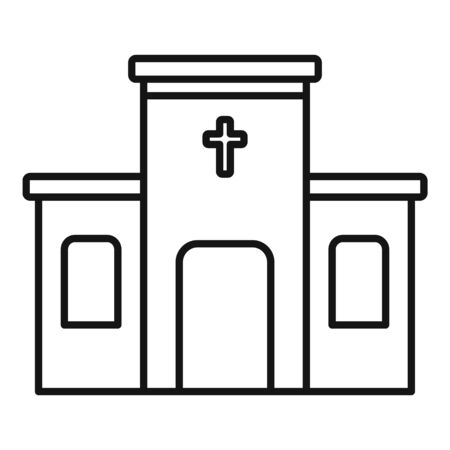 Architecture church icon, outline style