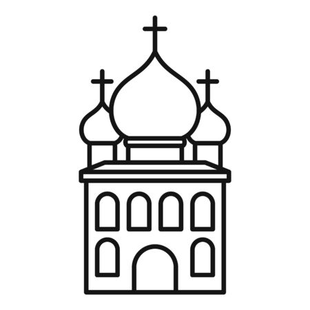 Orthodox church icon, outline style