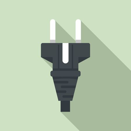 Cable plug icon. Flat illustration of cable plug vector icon for web design