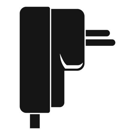 Laptop plug icon, simple style Иллюстрация