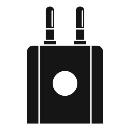 Mobile phone plug icon, simple style