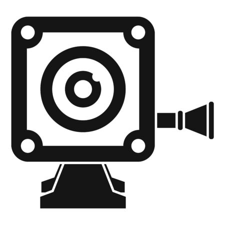 Small action camera icon, simple style Иллюстрация