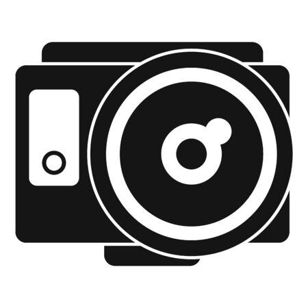 Fish eye action camera icon, simple style Иллюстрация