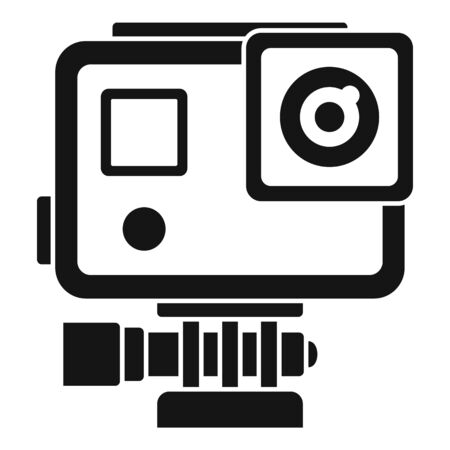 Sport action camera icon, simple style