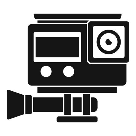 Digital action camera icon, simple style