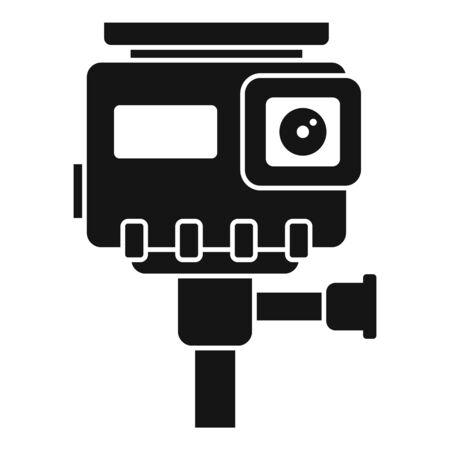 Hd action camera icon, simple style Иллюстрация