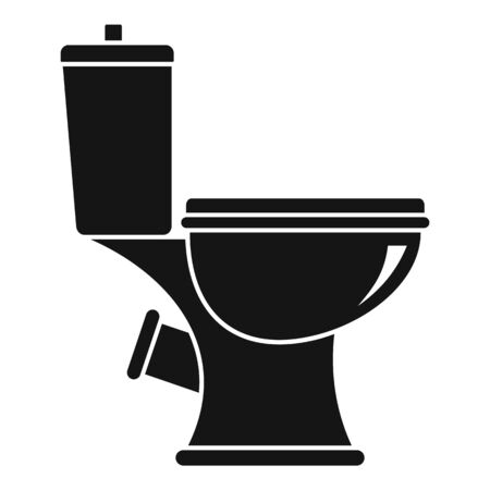 Toilet icon. Simple illustration of toilet vector icon for web design isolated on white background Ilustracja