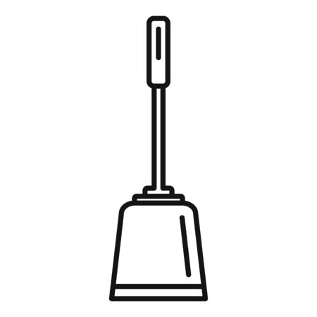 Toilet clean brush icon, outline style Иллюстрация