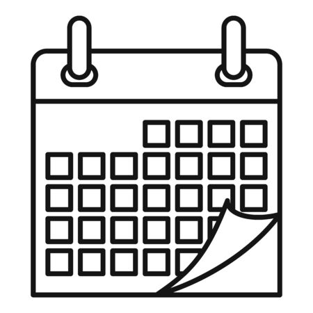Home calendar icon. Outline home calendar vector icon for web design isolated on white background