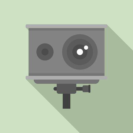 Action camera icon, flat style