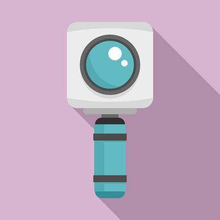 Underwater action camera icon, flat style