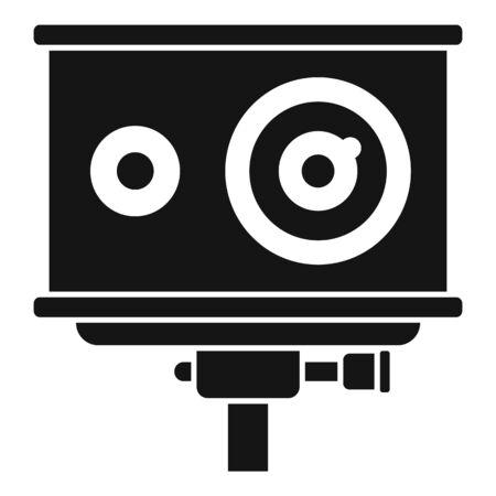 Action camera icon, simple style Иллюстрация