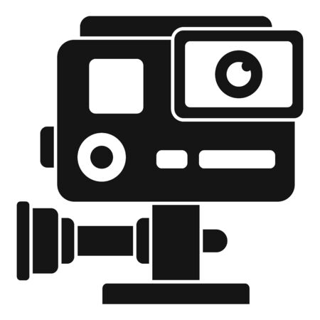 Hand action camera icon, simple style