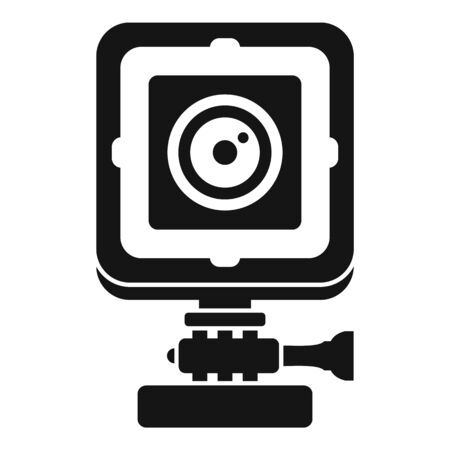 Bike action camera icon, simple style
