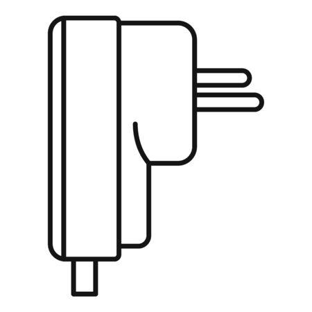 Air conditioner plug icon, outline style Stock fotó - 132101650