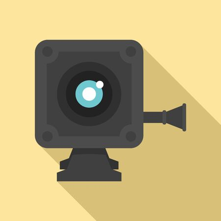 Small action camera icon, flat style