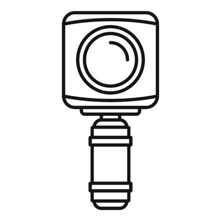 Underwater action camera icon, outline style