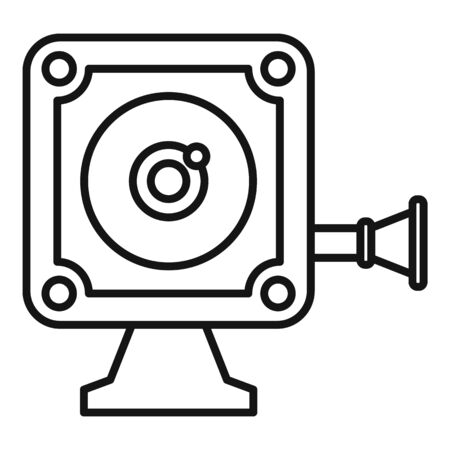 Small action camera icon, outline style