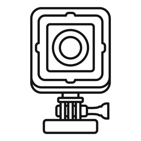 Bike action camera icon, outline style Иллюстрация