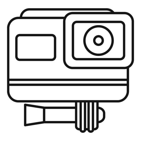 Cinema action camera icon, outline style