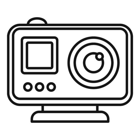 Modern action camera icon, outline style