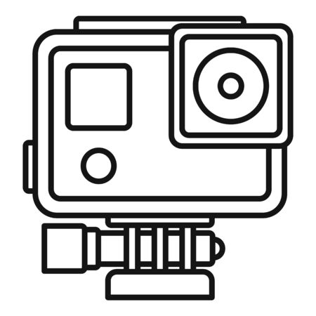 Sport action camera icon, outline style