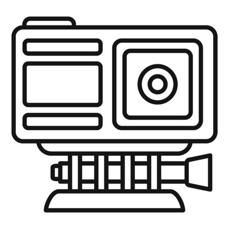 Adventure action camera icon, outline style