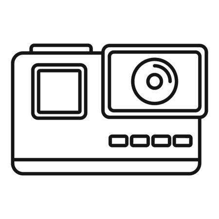 Extreme action camera icon, outline style