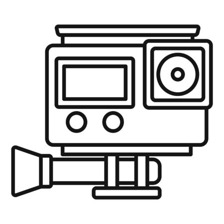 Digital action camera icon, outline style