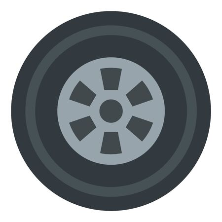 Car wheel icon. Flat illustration of car wheel vector icon for web design