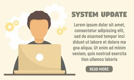 Last system update concept banner. Flat illustration of last system update vector concept banner for web design