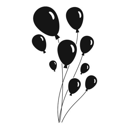 Balloons icon, simple style