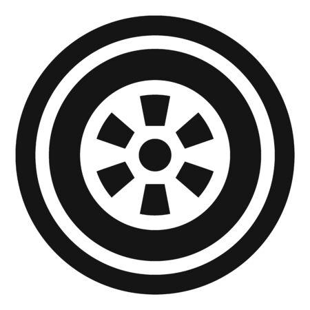 Car wheel icon, simple style